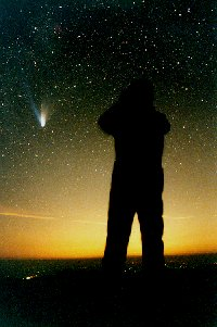Photo Brent Archinal and comet Hale-Bopp